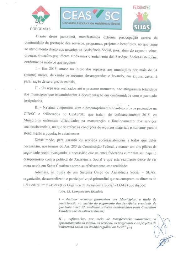 Carta em Defesa do SUAS 2