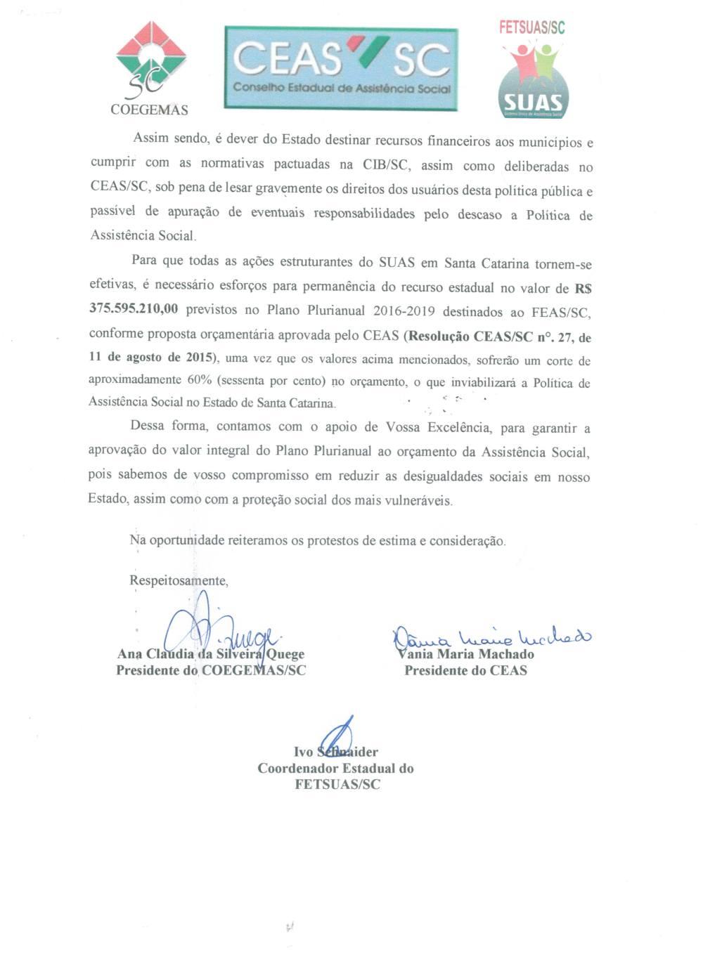 Carta em Defesa do SUAS 3